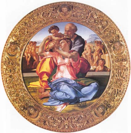 Микеланджело. Святое семейство (Тондо Дони)